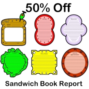 sandwich book report 50% off