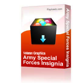 Army Special Forces Insignia W/Special Forces Tab [2212] | Other Files | Graphics