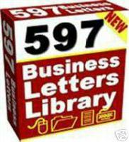 597 Sales Letters & Business Forms | eBooks | Business and Money