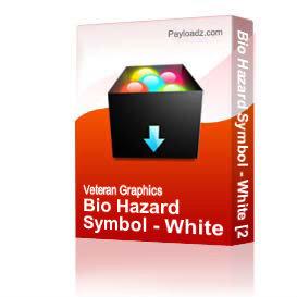 Bio Hazard Symbol - White [2121]   Other Files   Graphics