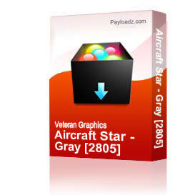 Aircraft Star - Gray [2805] | Other Files | Graphics