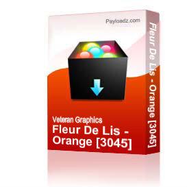 Fleur De Lis - Orange [3045] | Other Files | Graphics