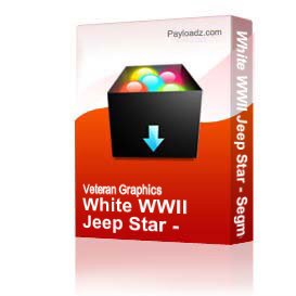 White WWII Jeep Star - Segmented [2333] | Other Files | Graphics