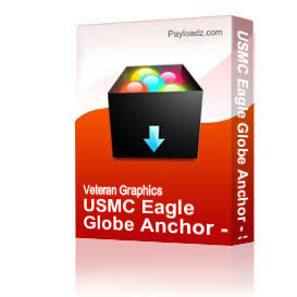 USMC Eagle Globe Anchor - Silhouette Black - Left [2141] | Other Files | Graphics