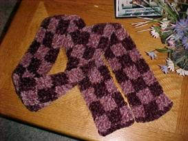 Checkerboard Scarf Pattern | eBooks | Arts and Crafts