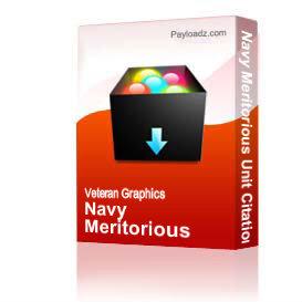 Navy Meritorious Unit Citation Award Ribbon [1643] | Other Files | Graphics