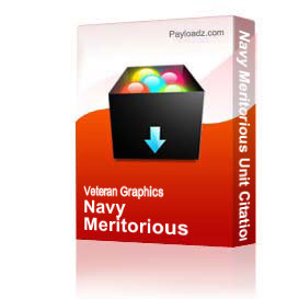 Navy Meritorious Unit Citation Award Ribbon [1643]   Other Files   Graphics