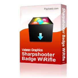 Sharpshooter Badge W/Rifle Bar [1228] | Other Files | Graphics