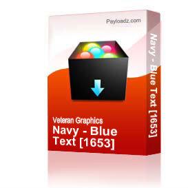 navy - blue text [1653]