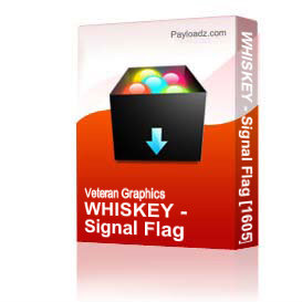WHISKEY - Signal Flag [1605] | Other Files | Graphics