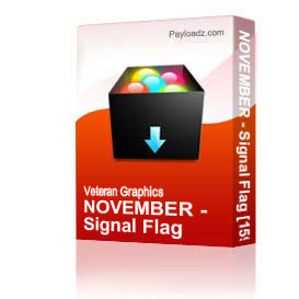 NOVEMBER - Signal Flag [1596] | Other Files | Graphics