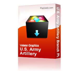 U.S. Army Artillery Branch Plaque [1526] | Other Files | Graphics