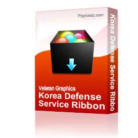 Korea Defense Service Ribbon [1458] | Other Files | Graphics