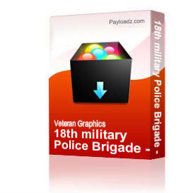 18th military Police Brigade - K-9 [1105] | Other Files | Graphics