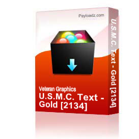 U.S.M.C. Text - Gold [2134] | Other Files | Graphics
