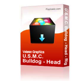 U.S.M.C. Bulldog - Head - Right - White & Black [2759] | Other Files | Graphics