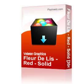 Fleur De Lis - Red - Solid [3049] | Other Files | Graphics