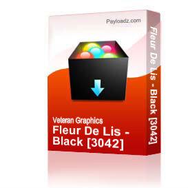 Fleur De Lis - Black [3042] | Other Files | Graphics