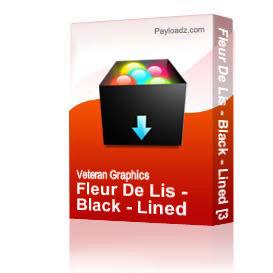 Fleur De Lis - Black - Lined [3043] | Other Files | Graphics