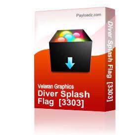 Diver Splash Flag  [3303] | Other Files | Graphics