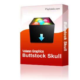 Buttstock Skull & Crossed Rifles  [3301] | Other Files | Graphics