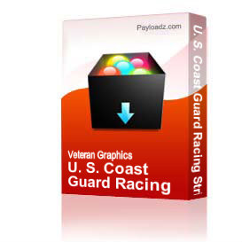 u. s. coast guard racing stripe - left  [2289]