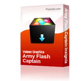 Army Flash Captain Insignia  [1503] | Other Files | Graphics