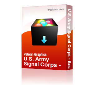 U.S. Army Signal Corps - Branch Plaque EPS File | Other Files | Graphics