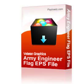 Army Engineer Flag EPS File | Other Files | Graphics