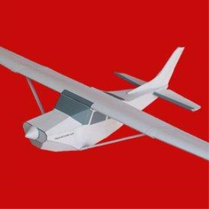 Paper Cessna Skylane White | Crafting | Paper Crafting | Paper Models