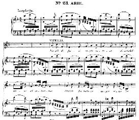 Non più di fiori (Aria for Soprano). With recitative Ecco e il punto, O Vitellia...  W.A.Mozart: La clemenza di Tito, K.621, Vocal Score. Ed. Peters Leipzig, 1870 (italian) | eBooks | Sheet Music
