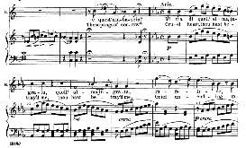 mi tradi quell' alma ingrata (aria for soprano). with recitative