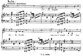 Come scoglio, immoto resta (Aria for Soprano). With recitative Temerari!...  W.A.Mozart: Cosi fan tutte, K.588, Vocal Score (H. Levi). Universal Edition (VA 1666), (1898) italian   eBooks   Sheet Music