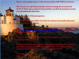 Zero Investment way to make money online