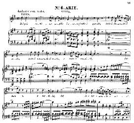 Del più sublime soglio (Tenor Aria). W.A.Mozart: La clemenza di Tito, K.621, Vocal Score. Ed. Peters Leipzig, 1870 (Italian)   eBooks   Sheet Music