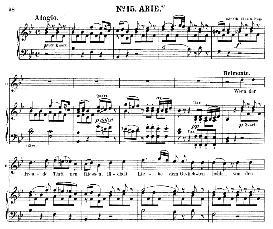 wenn der freude tränen fliessen (tenor aria). w.a.mozart: die entführung aus dem serail, k.384, vocal score (g. kogel). ed. peters (1881)