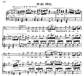 Ein mädchen oder weibchen (Aria for Bass or Baritone). W.A. Mozart: Die Zauberflöte (The Magic Flute) K.620, Vocal Score (W. Kienzl). Universal Edition UE 245 (1901) | eBooks | Sheet Music