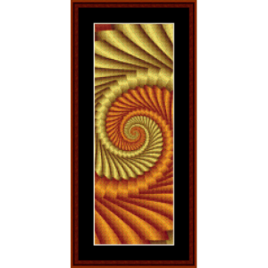 bm-fr-384 - fractal 384 bookmark cross stitch pattern by cross stitch collectibles