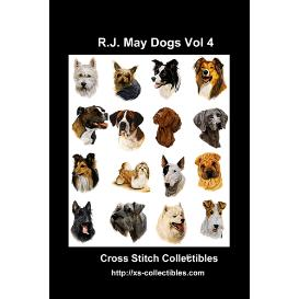 robt j. may dogs vol 4 -cross stitch pattern by cross stitch collectibles