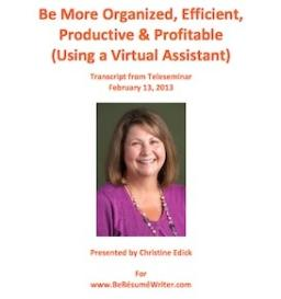 be more productive teleseminar with christine edick