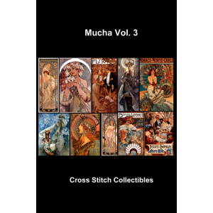 alphonse mucha vol 3 collection - cross stitch pattern by cross stitch collectibles
