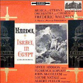 handel: israel in egypt (oratorio) - waldman