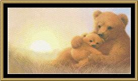 a mother's love collection mama bear& cub