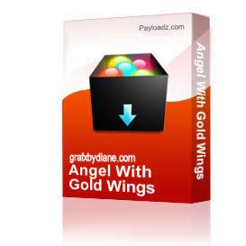 Angel With Gold Wings | Other Files | Clip Art