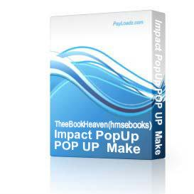 * NEW SOFTWARE * Impact PopUp POP UP  Make Money | Software | Business | Other