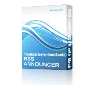 RSS ANNOUNCER with Master Resale Rights & ReBrand | Software | Business | Other