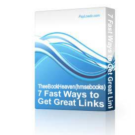 7 Fast Ways to Get Great Links to Your Website RESELL | Software | Internet