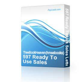 597 Ready To Use Sales Letters and Business Forms | Software | Business | Other