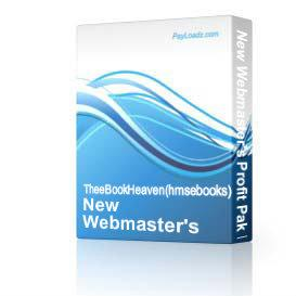New Webmaster's Profit Pak Business INSTANT DOWNLOAD | Software | Business | Other