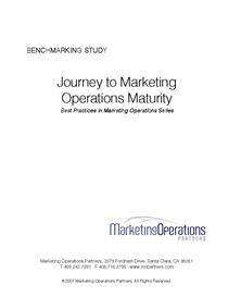 marketing operations benchmarking study